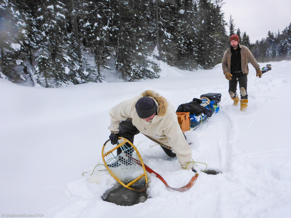 Winter snowshoe trekking