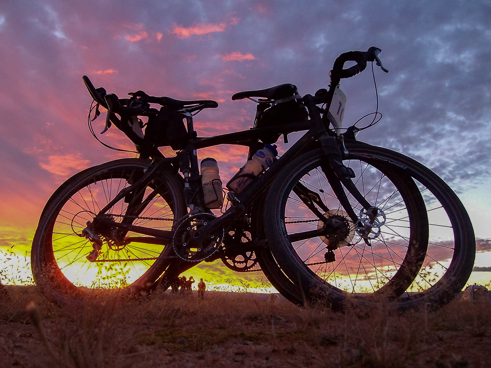 Our bikes at sunset.