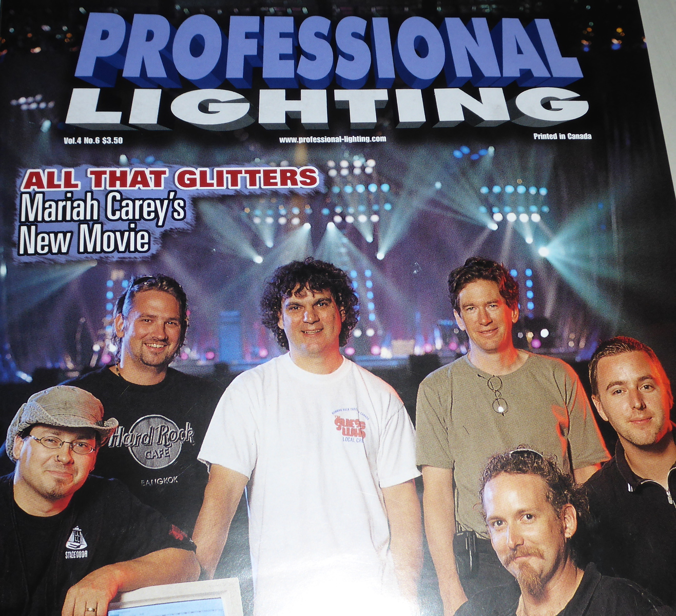 Dave on the cover of Professional Lighting Magazine