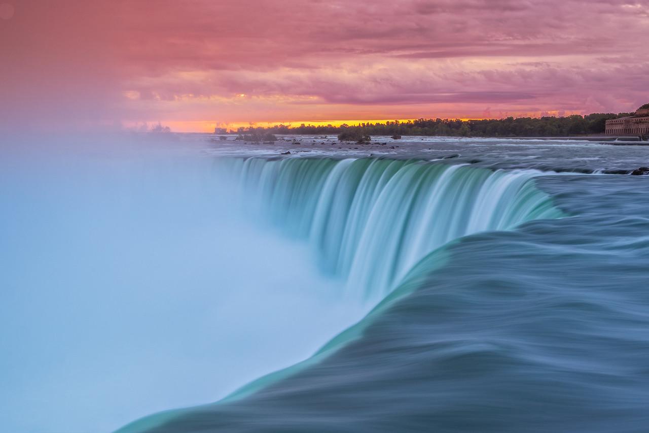 Early Morning sunrise at Niagara Falls is so romantic.