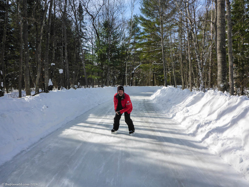 Dave takes on the Ice Trail at Arrowhead Provincial Park