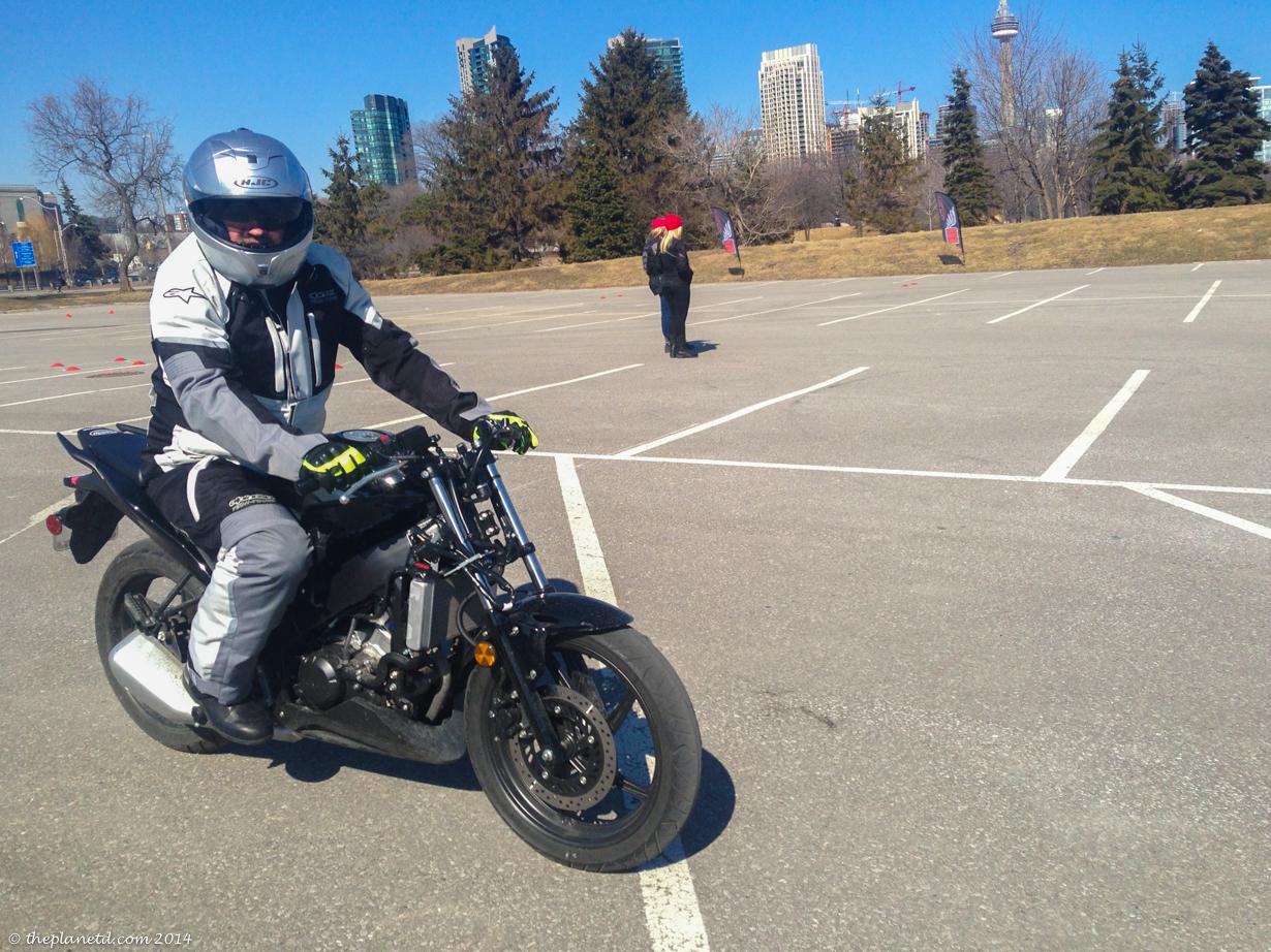 Dave feeling good on the bike.