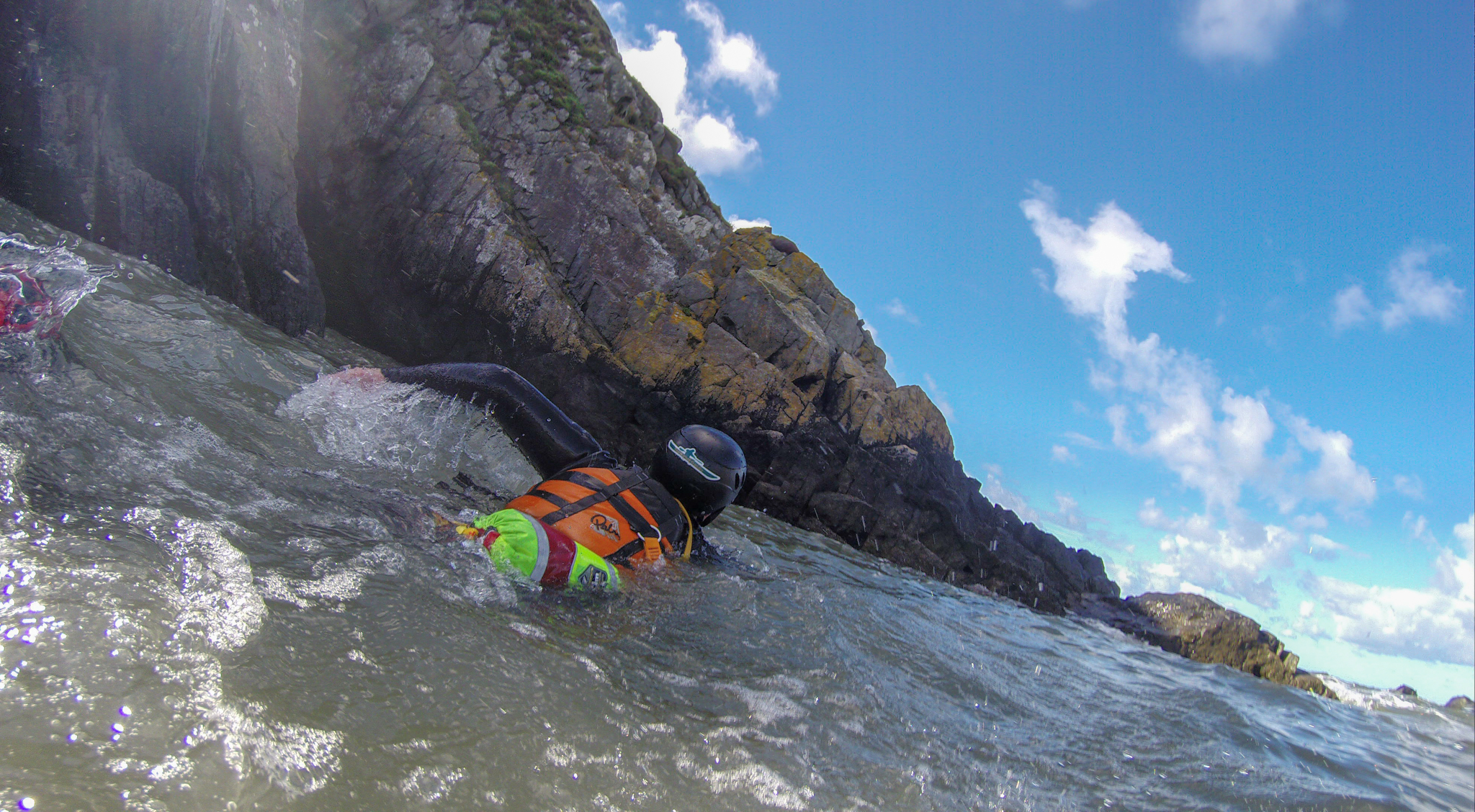 Coasteering at the end of a Hurricane