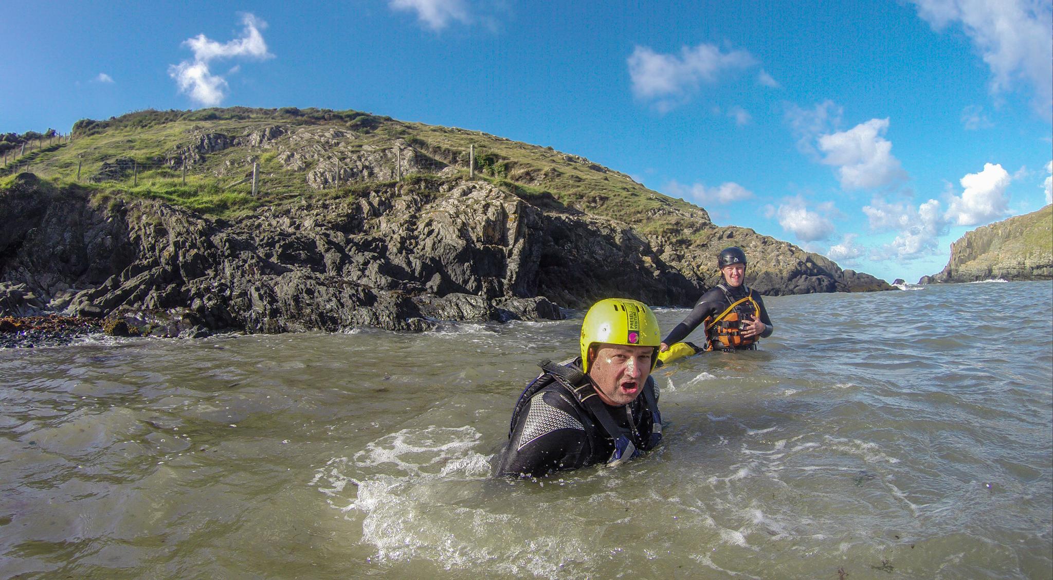 coasteering in Wales