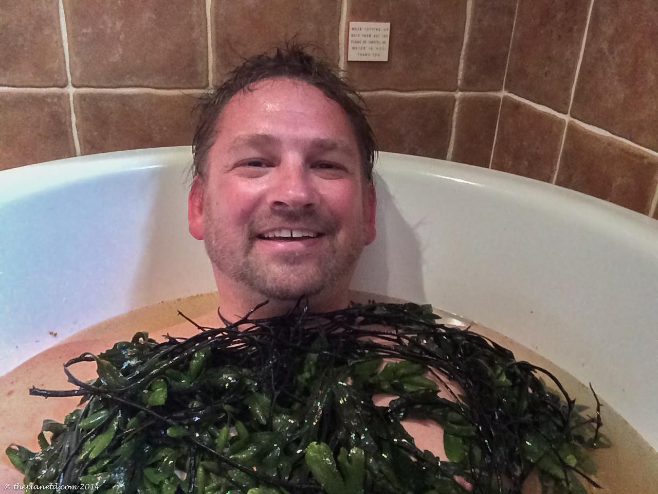 Taking a Seaweed bath in Ireland