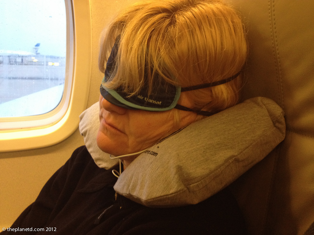 pillow and eye mask for flying