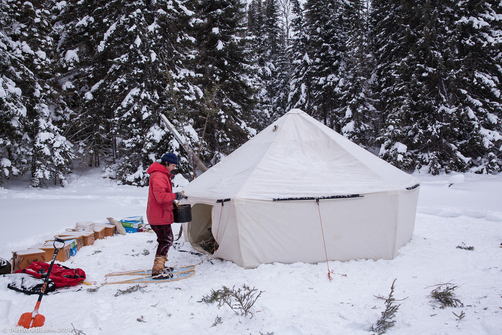 Traditional winter trekking and camping