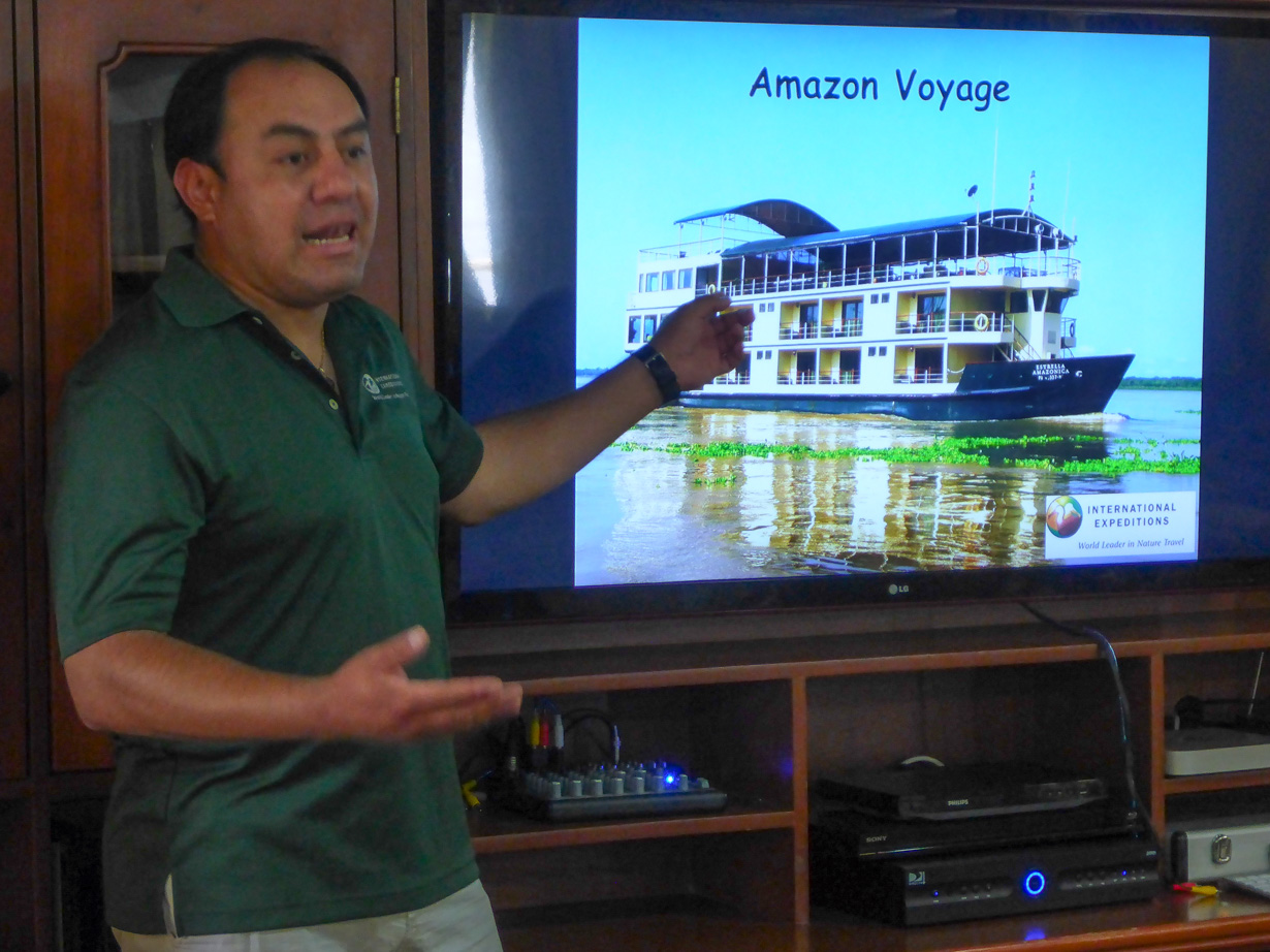 Learning about the Amazon while on board