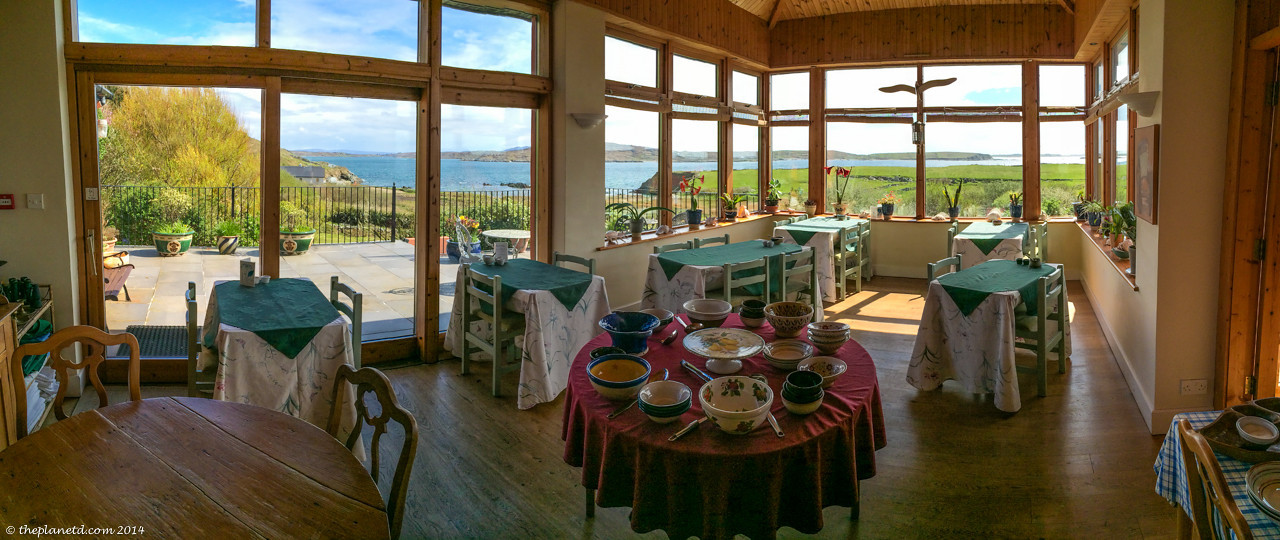 Now that is the view you want to eat breakfast from at the Dolphin Beach House in Clifden, Ireland