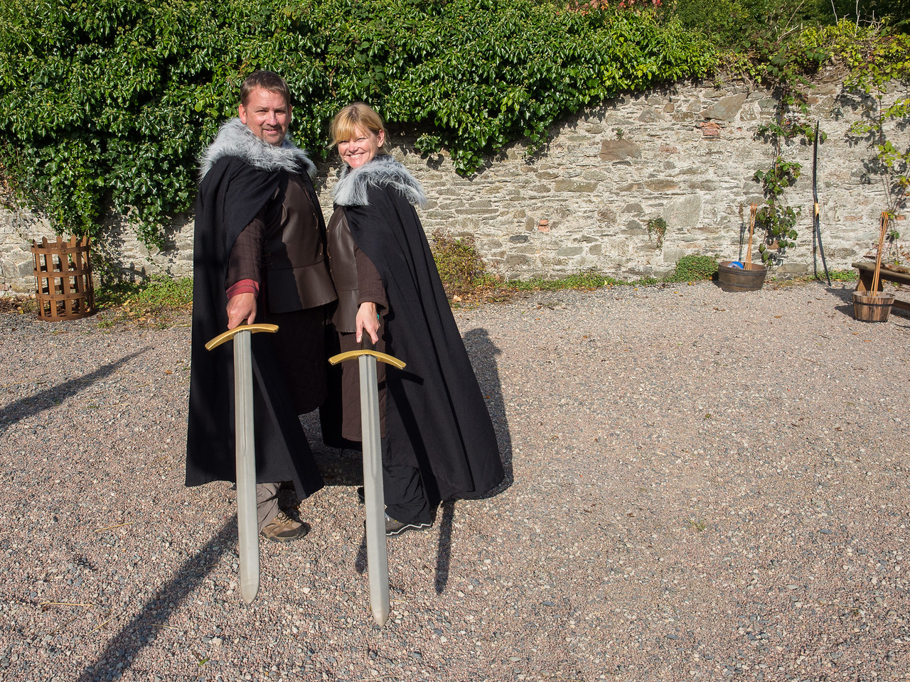 Dave and Deb in Game of Thrones robes
