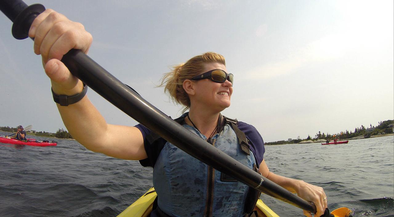 deb kayaking in Nova Scotia