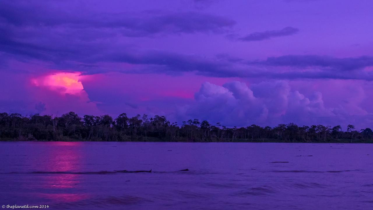 A Spectacular Amazon Sunset