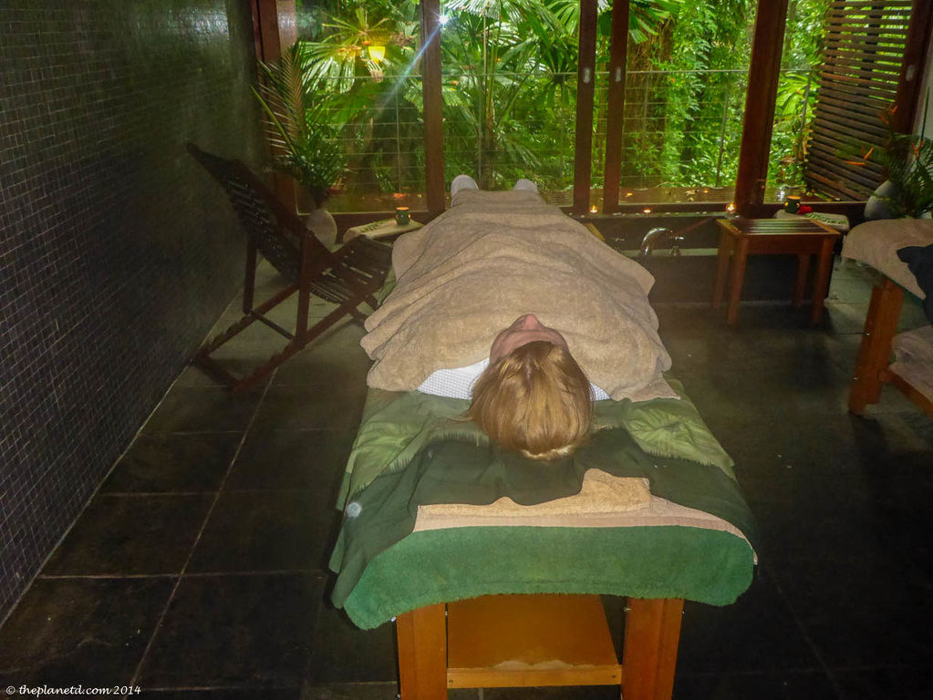 Deb is ready for her Spa Treatment at Silky Oaks Lodge