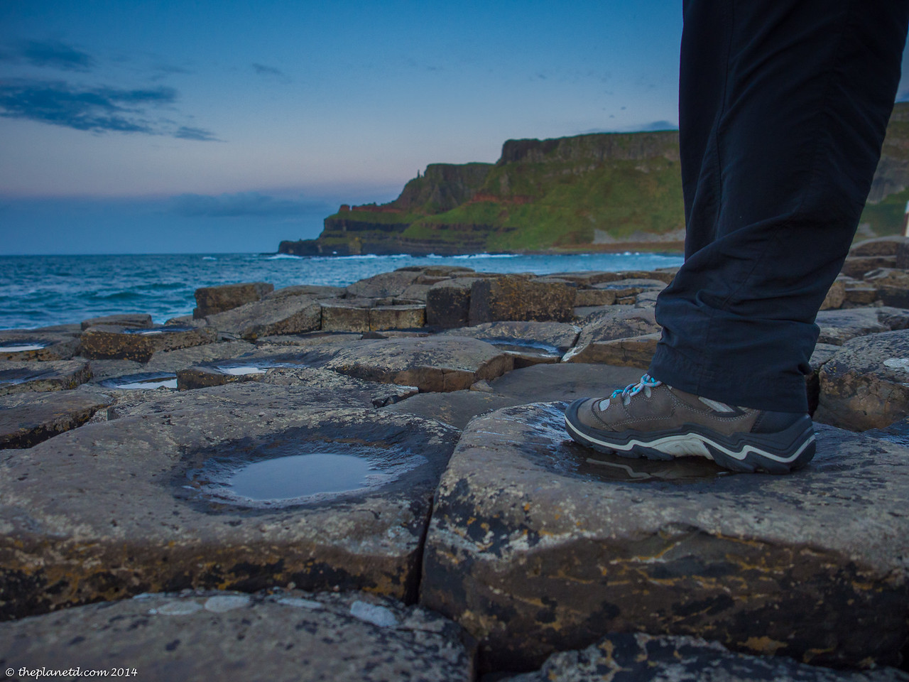 Deb's Keens take on the Giant's Causeway in Ireland