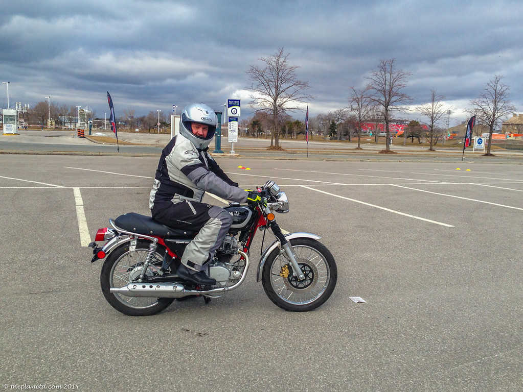 Dave enduring the cold at Motorsoul riding School