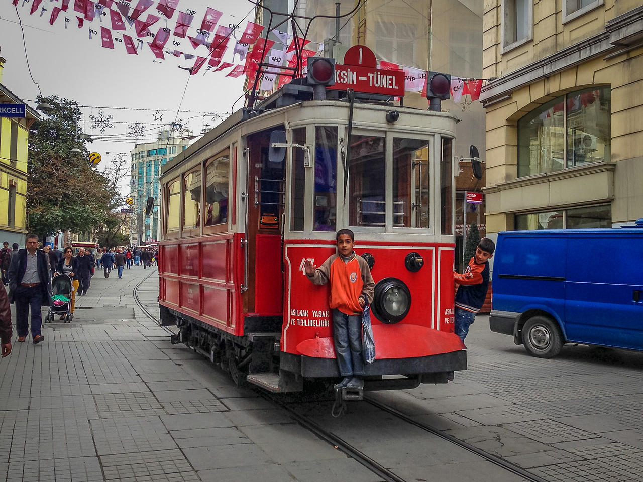 downtown Istanbul trolley