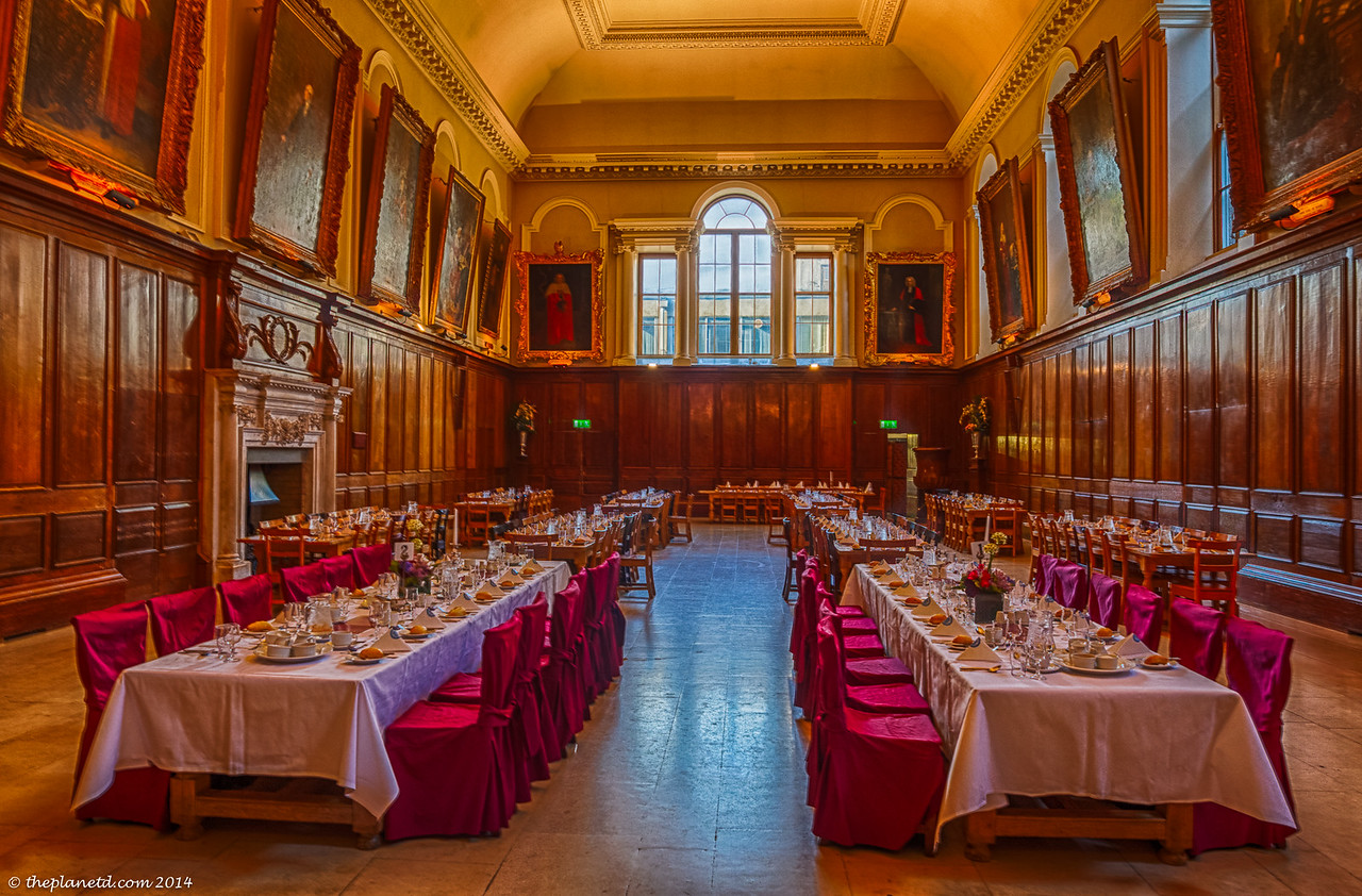 Inside Trinity College, Dublin.
