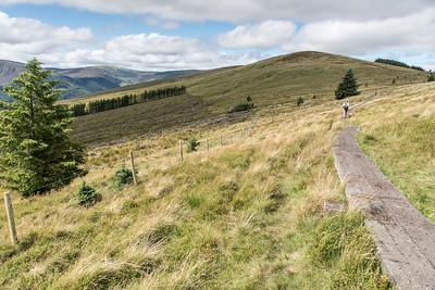 Saddle/Col between Mullacor & Lugduff Mountains