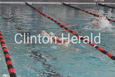 Davenport Central at Clinton girls swimming (9-6-16)