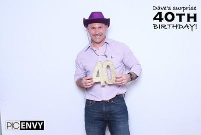 Dave's 40th Surprise Birthday!