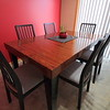 Recon Rosewood Table w/ Ikea chairs