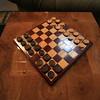 African Padauk & Red Oak chess board