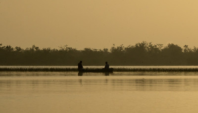Morning fishing on lagoon, Crooked Tree wildlife sanctuary