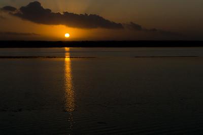 Sunrise at Crooked Tree Wildlife Sanctuary