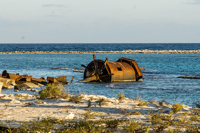 remnants of destroyed lighthouse, Half Moon Caye