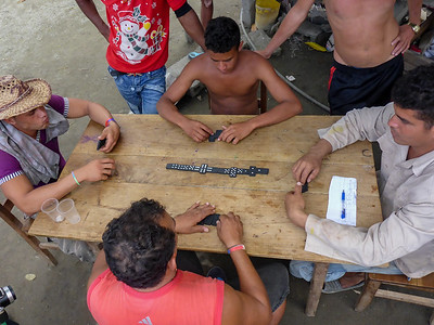 Dominoes and a Cuban Party near Cajobabo