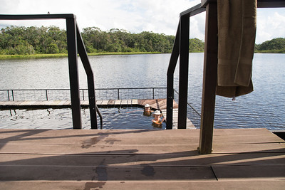 Swimming Enclosure, Sacha Lodge