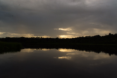Lake at Sacha Lodge, Sunset