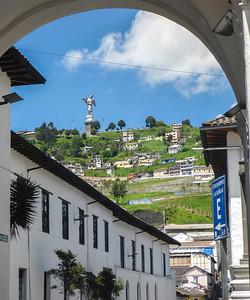El Panecillo from La Ronda, Quito