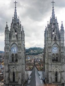 Clock tower, Basilica del Voto Nacional.