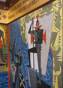 Guayasim mural in Presidential palace
