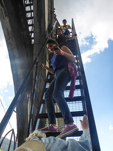 Climbing the Basilica tower, Quito