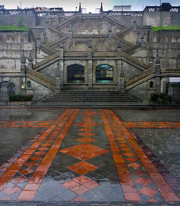 Rain on Basilica Plaza