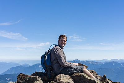 Paul Abram at Mount Cheam Peak