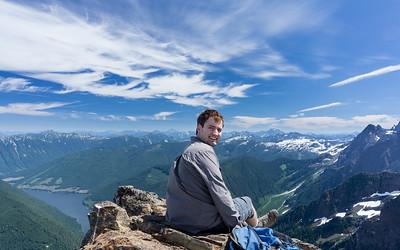 Paul Abram, looking east to Jones Lake