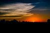 October sunset in Iowa
