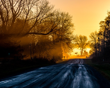 Misty Sunrise on Chain Bridge Road