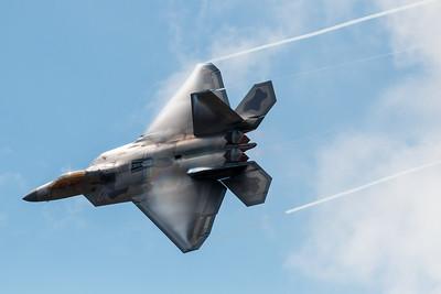 F-22 Raptor Vapor Trails and Afterburners