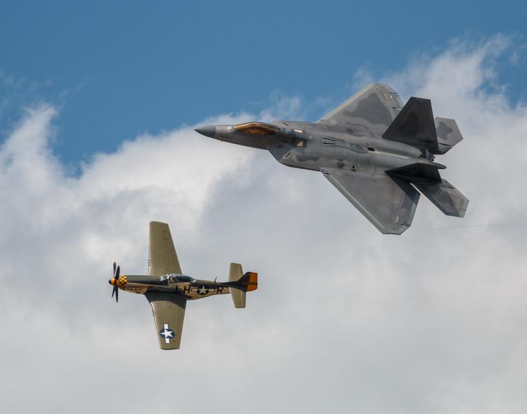 F-16 and P-51 Heritage Flight