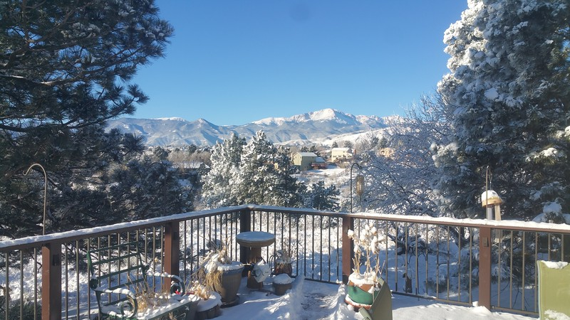 Pikes Peak from our deck