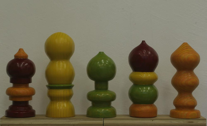 Here are five finials commissioned by Mashika of Russian Hill, San Francisco, CA.<br /> Perhaps I can turn a finial for you!