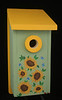 This Bluebird house is made to Audubon Society specifications. The roof is removable off for cleaning. Hang the house on a fence or tree 5-10' above the ground. This home is sure to attract Western Bluebirds to your garden.