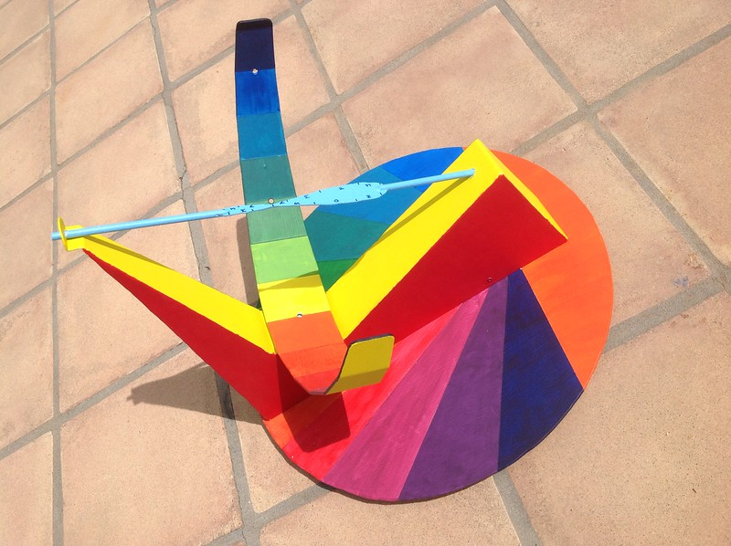 Sundial, painted steel