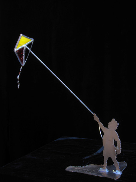 """Go fly a kite"", sculptoon"