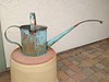 watering can, copper and stainless steel