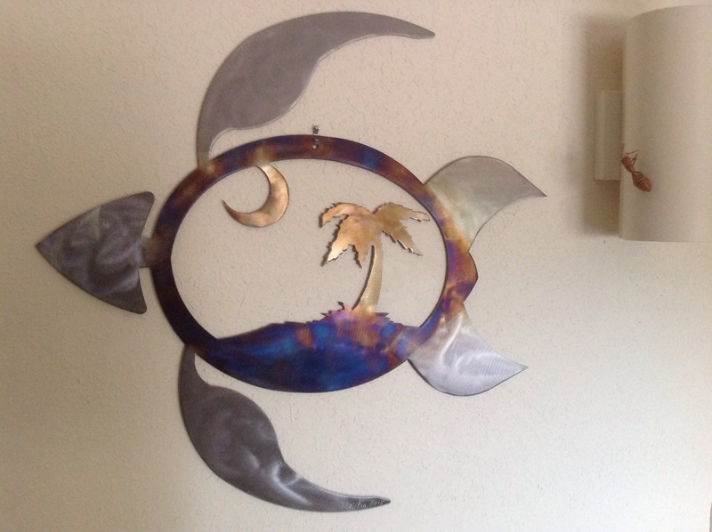This steel wall piece was inspired by the South Carolina logo.